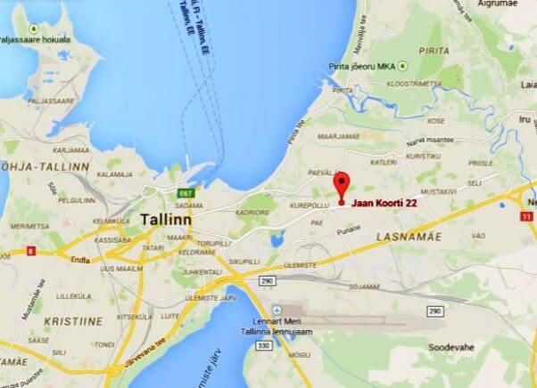 Tallinnan kartta-Lasnamäen seurakunta