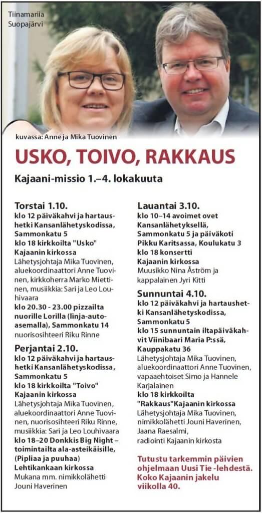 Kajaani_missio_ohjelma