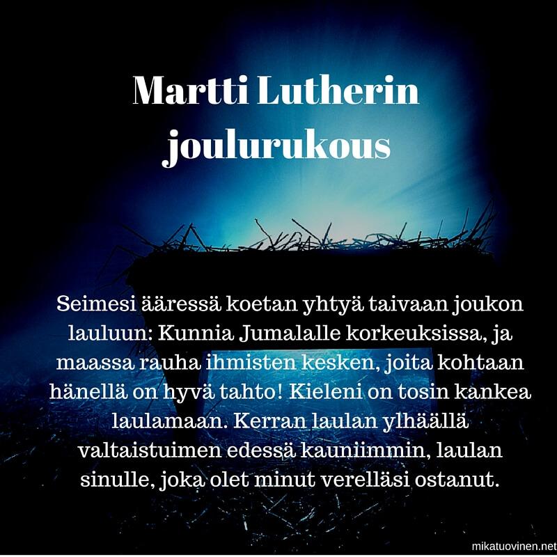 Martti Lutherin joulurukous_Mika_Tuovinen