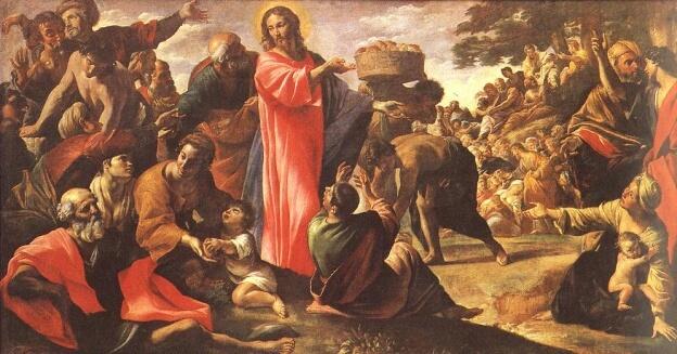 Jeesus ruokkii 5000 miestä