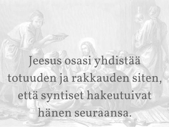 Jeesus syntisten ystävä