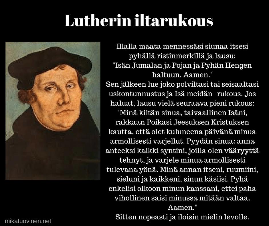 iltarukous uskonpuhdistaja Luther