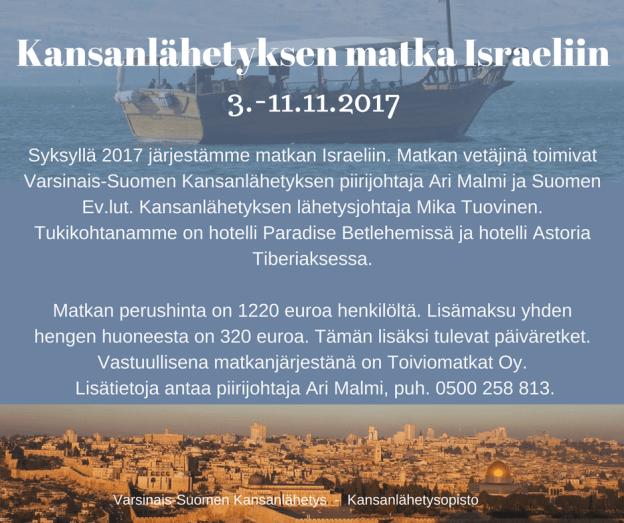 Varsinais-Suomen Kansanlähetyksen matka