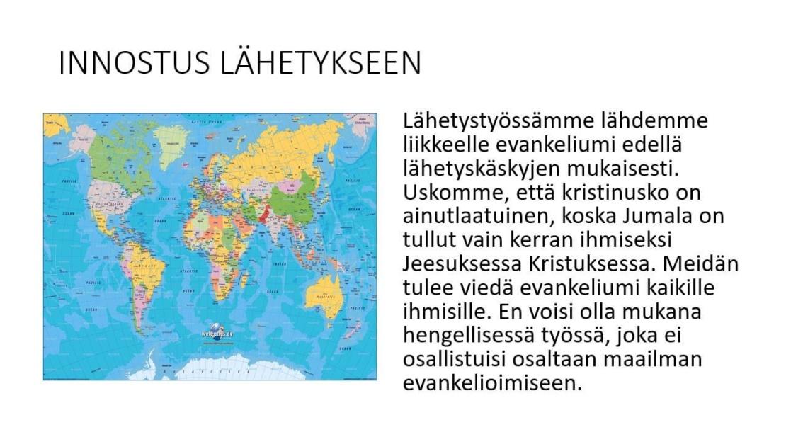 Evankeliumi kaikille kansoille