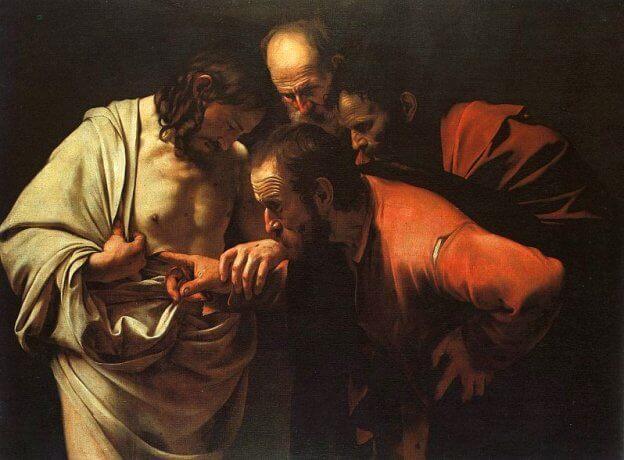 Epäilevä Tuomas - uskova Tuomas_Caravaggio