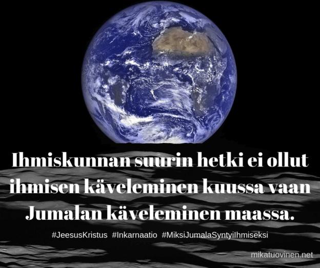Neil Armstrong ja Buzz Aldrin kuussa - Jumala Jeesuksessa maassa